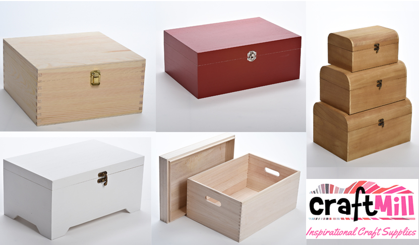 Large Wooden Christmas Eve or Keepsake Boxes