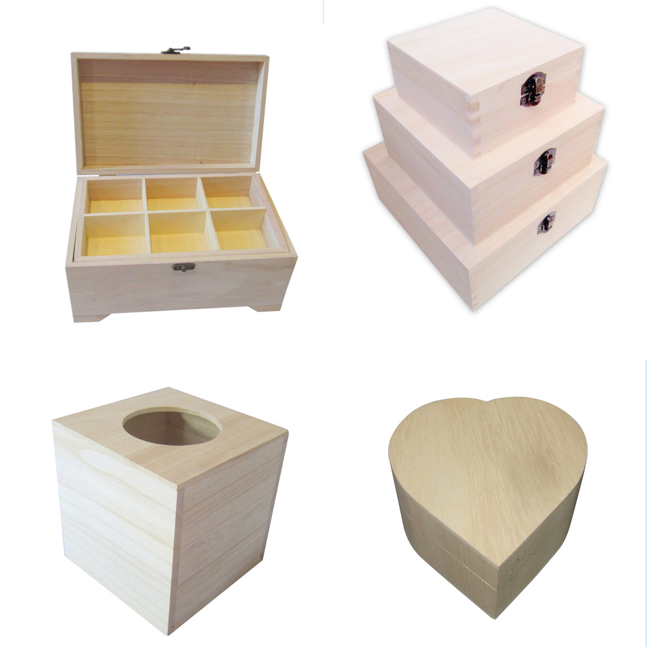 Plain Wooden Boxes
