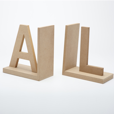 Plain MDF & Wooden Bookends