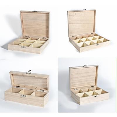 Plain Wooden Tea Caddy Boxes