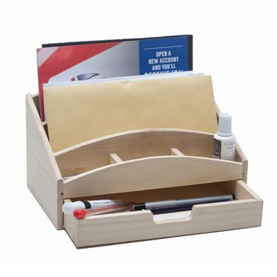 Wooden Desktidies, Letter Racks, Pencil Pots