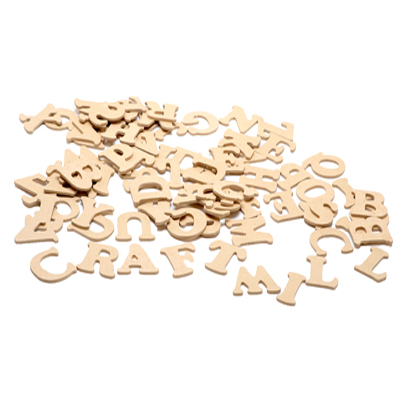 Wooden & MDF Letters, Numbers, Words