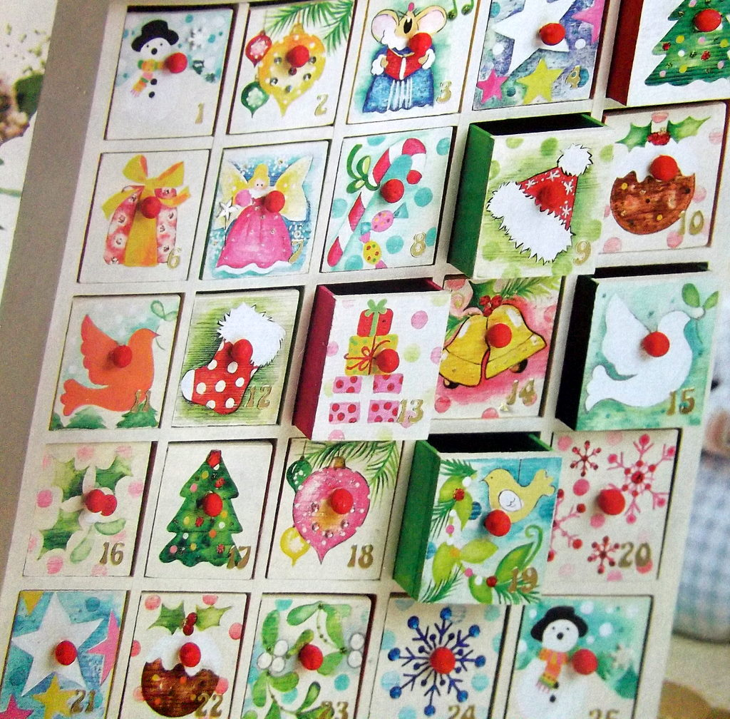 Wooden Storage Box or Advent Calendar - Plain Wooden Advent Calendars ...