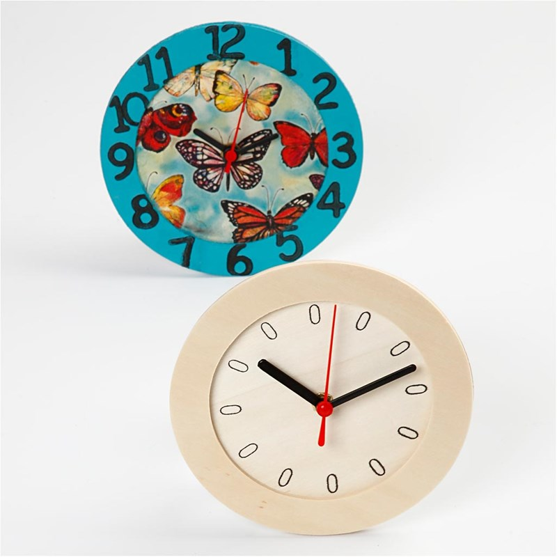 Plain Wooden Clocks