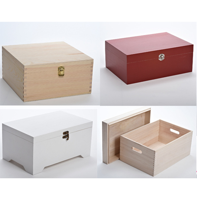 Plain Wooden Christmas Eve Boxes
