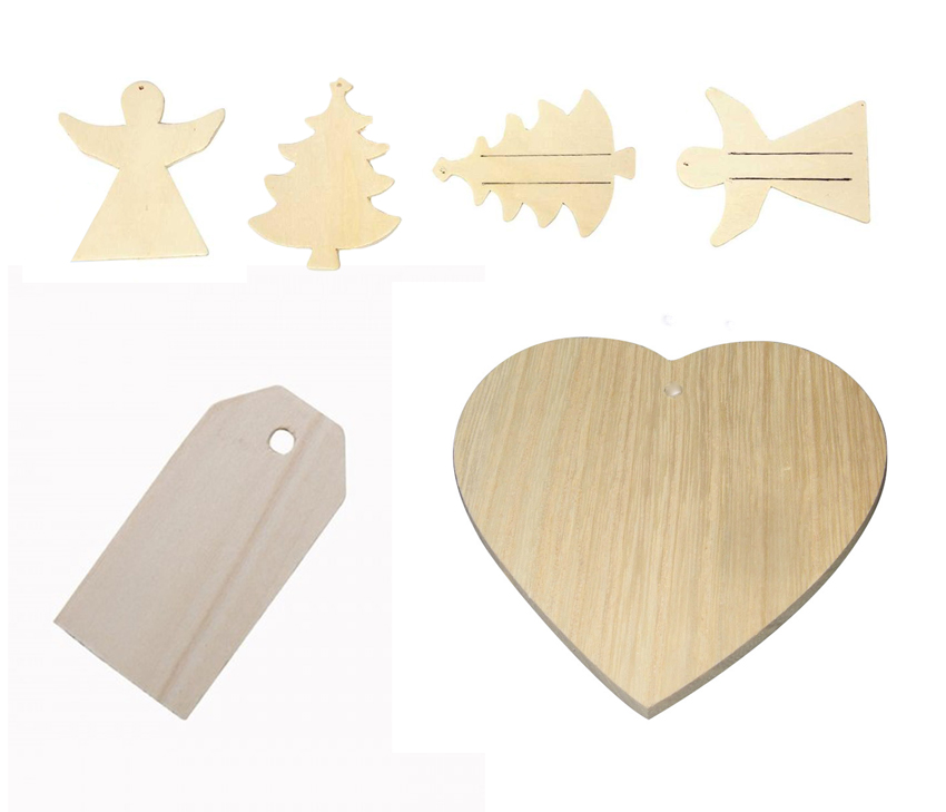 Plain Wooden Gift Tags & Laser Cut Shapes